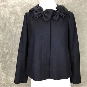 Rebecca Taylor Wool Bow Jacket Size 6